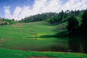 Ανοιξιάτικη εκδοχή της λίμνης στη Βασιλίτσα