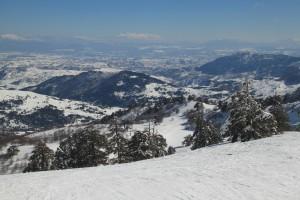 Η θέα από την κορυφή του διθέσιου εναέριου αναβατήρα